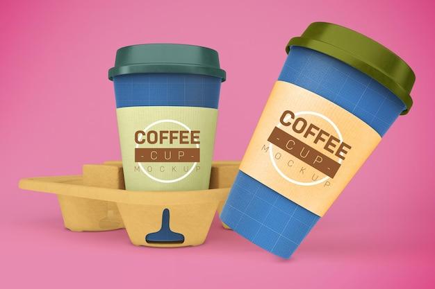 Maquette de tasses à café