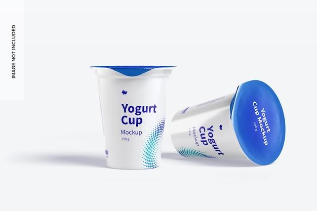 Maquette de tasses de yogourt 150 g