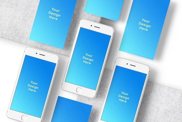 Maquette de téléphone à écran