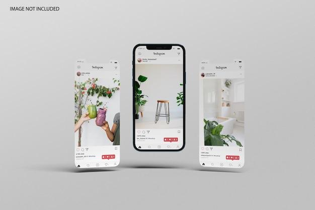 Maquette de téléphone et d'écran