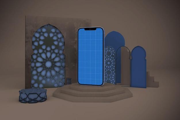 Maquette de téléphone intelligent arabe