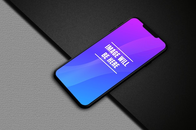 Maquette de téléphone intelligent avec écran coloré