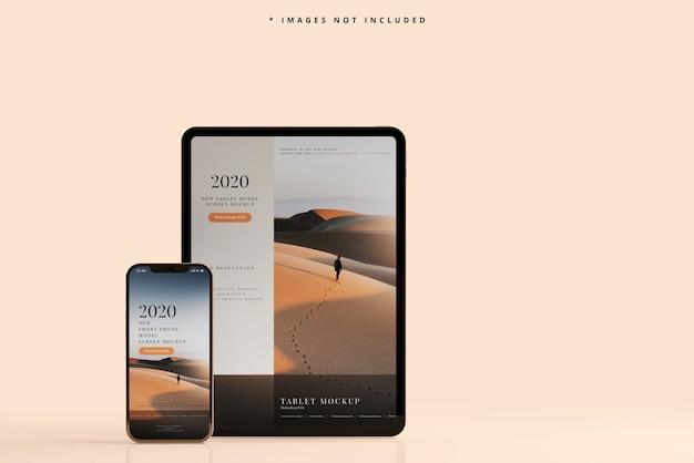 Maquette de téléphone intelligent et de tablette