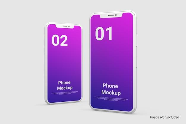 Maquette de téléphone minimaliste d'argile isolée