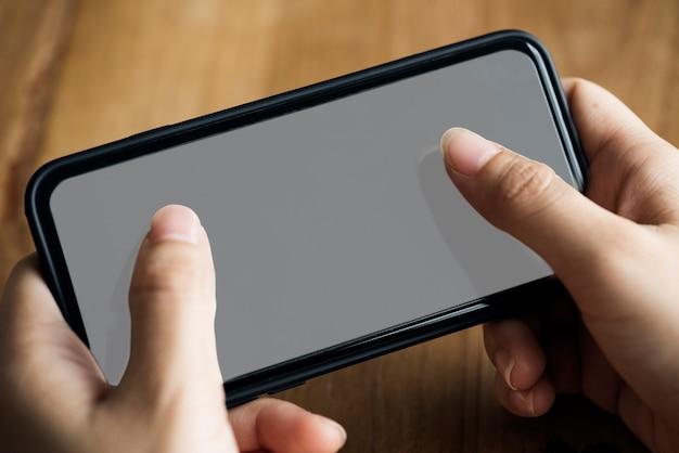 Maquette de téléphone mobile à écran tactile
