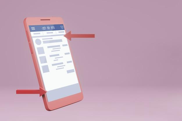 Maquette de téléphone mobile en psd gratuit