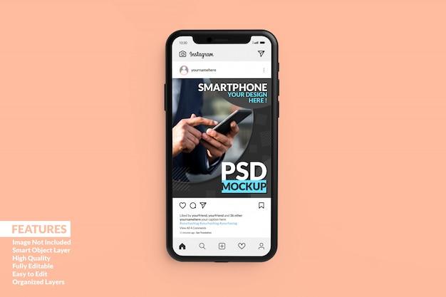 Maquette de téléphone portable premium réaliste premium