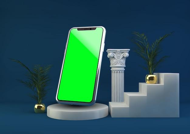 Maquette de téléphone portable sur support