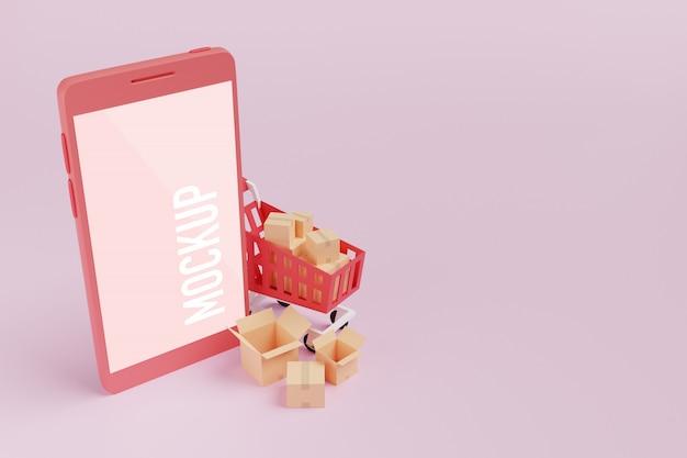 Maquette de téléphone portable
