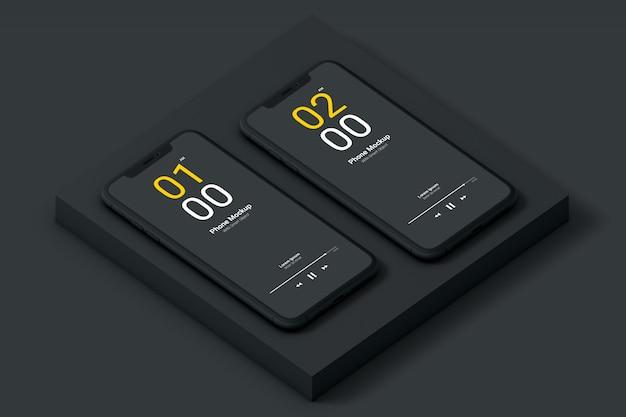 Maquette de téléphone sombre