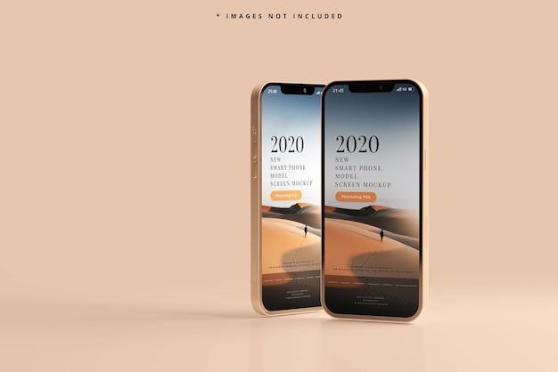 Maquette de téléphones intelligents modernes