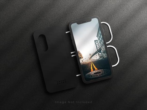 Maquette de téléphones portables avec couverture arrière