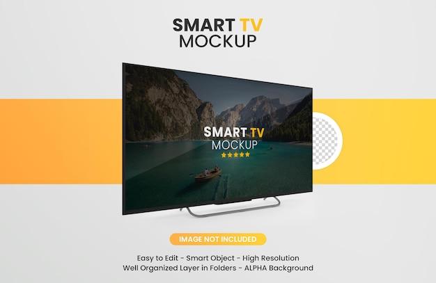 Maquette de télévision intelligente moderne isolée