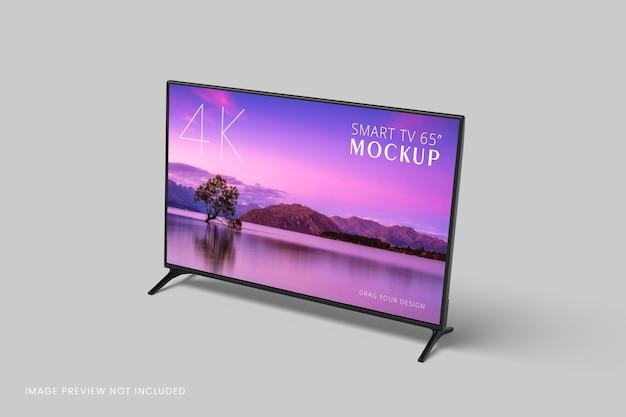 Maquette de télévision intelligente rendu 3d isolé