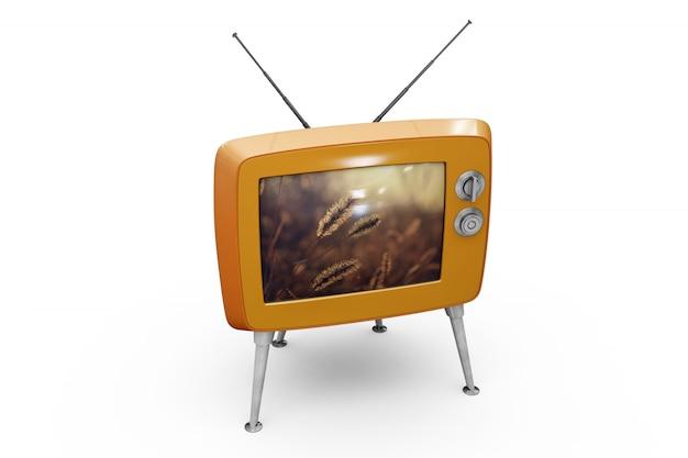 Maquette de télévision rétro