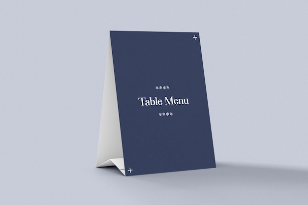 Maquette de tente de menu et de table