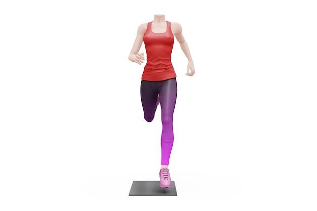 Maquette de tenue de sport féminin isolé