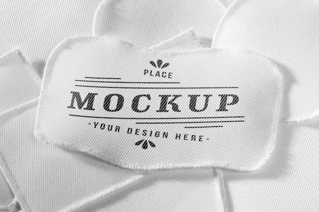 Maquette textile de patch de vêtements blancs