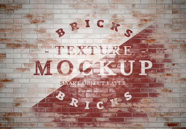 Maquette de texture de brique grunge