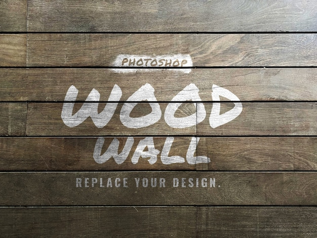Maquette de texture de brosse murale en bois