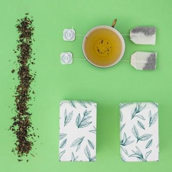 Maquette de thé créative