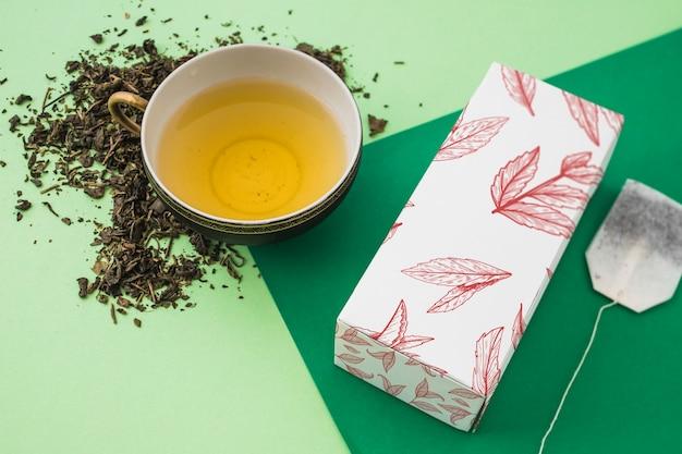Maquette de thé isométrique