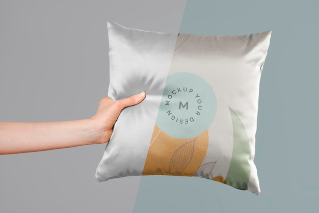 Maquette de tissu de coussin confortable