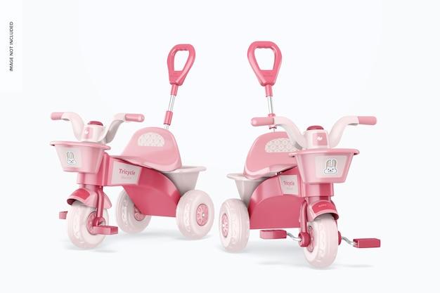 Maquette de tricycles
