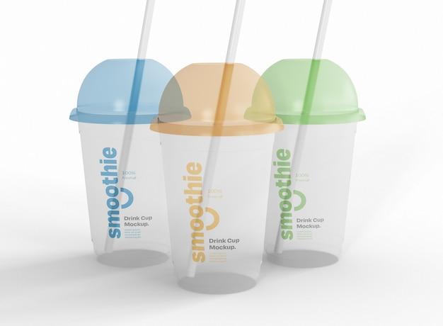 Maquette de trois smoothies
