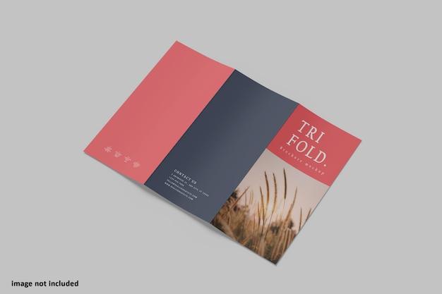 Maquette à Trois Volets De La Brochure A4 PSD Premium