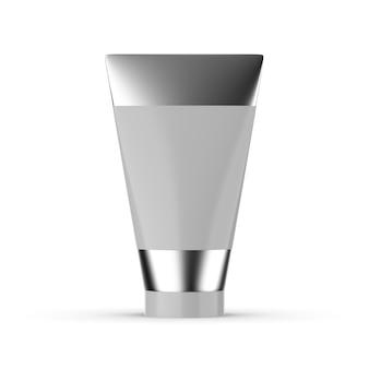 Maquette de tube cosmétique isolée