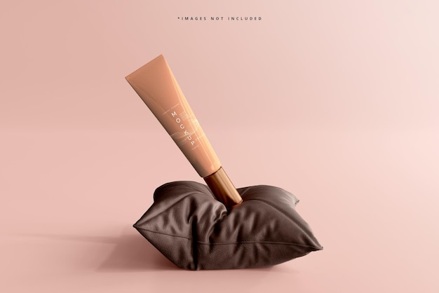 Maquette de tube de crème cosmétique