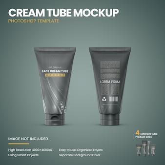 Maquette de tube de crème