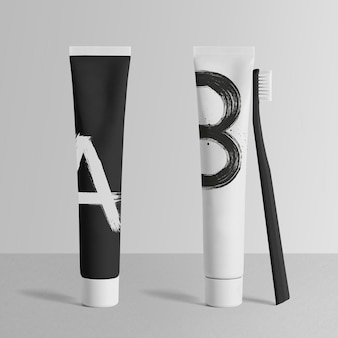Maquette de tube de dentifrice minimale