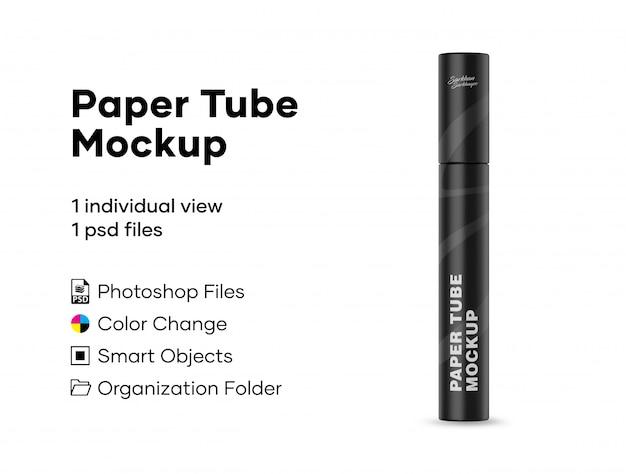 Maquette de tube de papier