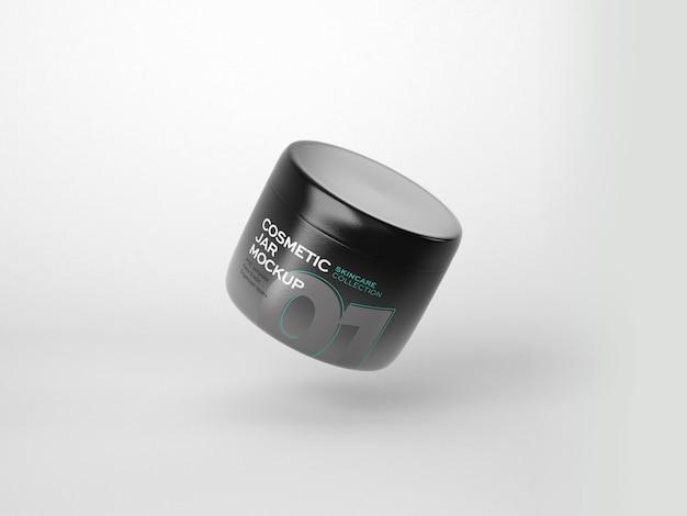 Maquette de tube et de pot de cosmétiques