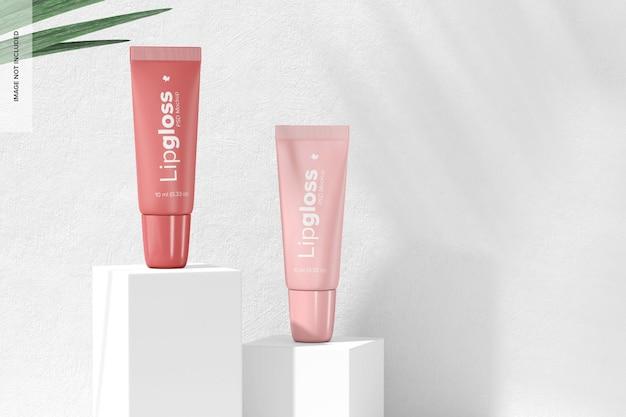 Maquette de tubes de brillant à lèvres, vue de droite