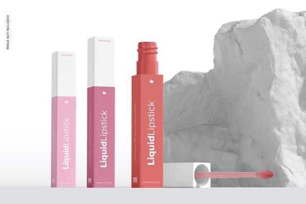 Maquette de tubes de rouge à lèvres liquide