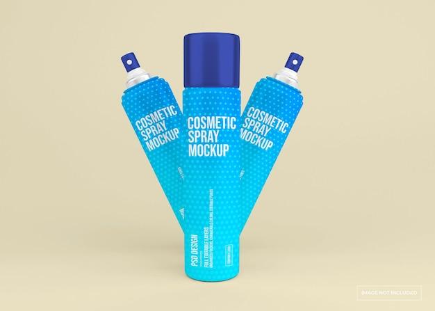 Maquette de vaporisateur cosmétique dans le rendu 3d