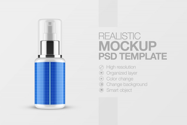 Maquette de vaporisateur cosmétique réaliste