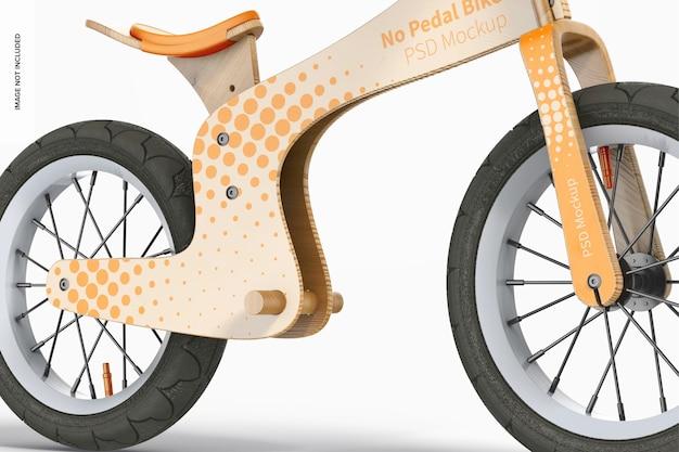 Maquette de vélo sans pédale, gros plan