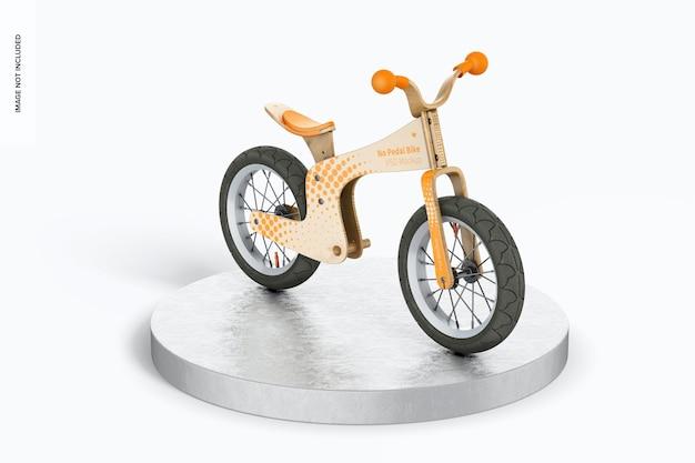 Maquette de vélo sans pédale, vue gauche