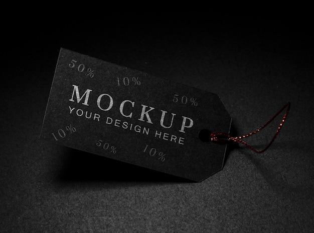Maquette de vente du vendredi noir à étiquette de prix minimaliste