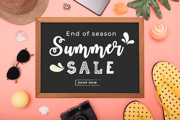 Maquette de la vente d'été