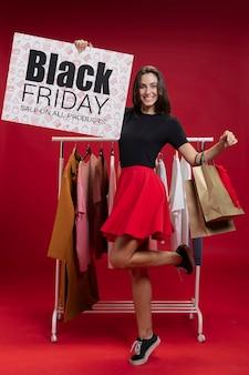 Maquette avec les ventes promotionnelles du vendredi noir