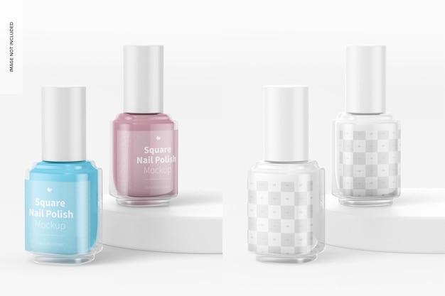 Maquette de vernis à ongles carrés