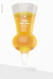 Maquette de verre à bière thistle