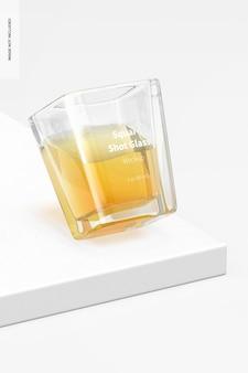 Maquette de verre à liqueur carré