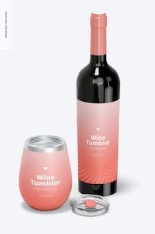 Maquette de verre à vin de 12 oz, ouverte