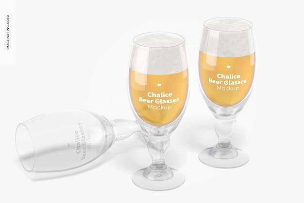 Maquette de verres à bière calice